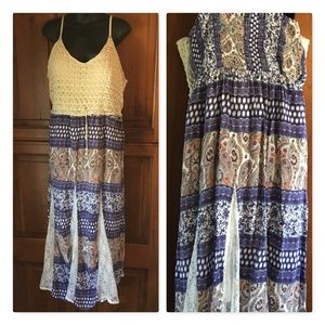 Beautiful Festival Maxi Crochet Top Dress, size 1X